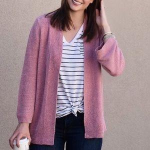 LOFT Pink Cardigan